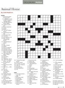 Printable Animal Crossword Puzzles