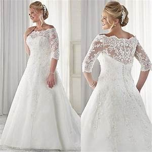 67 best plus size wedding gowns images on pinterest gown With wedding dresses for chubby brides