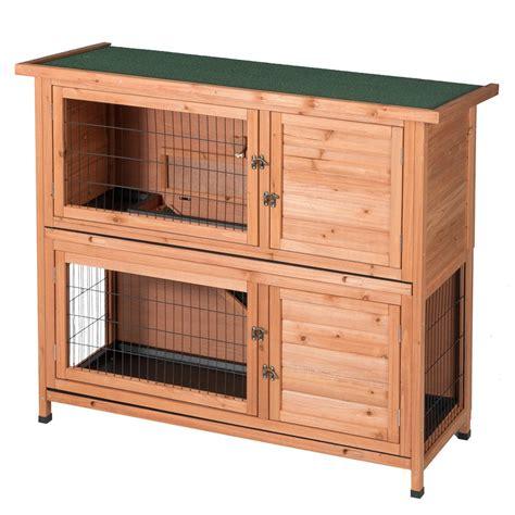 Indoor Wooden Rabbit Hutch by Two Floors Wooden Outdoor Indoor Bunny Hutch