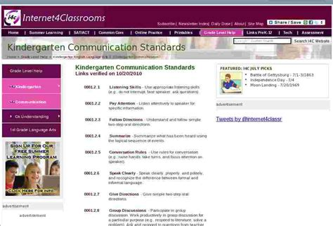 communication kindergarten english language arts