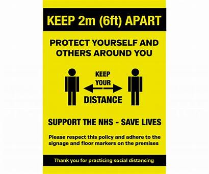 Distance Social Keep Apart Notice 6ft Poster