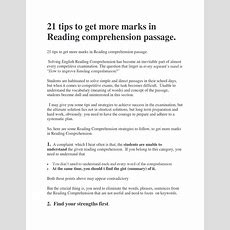 21 English Reading Comprehension Tips By Englishachiever Issuu