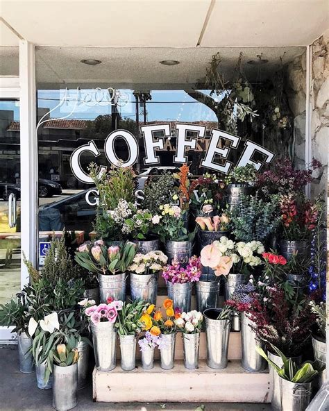 pin by d m on my favourite cafe flower shop decor