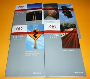 2015 Toyota Sienna Owners Manual Set 15 L Le Se Xle