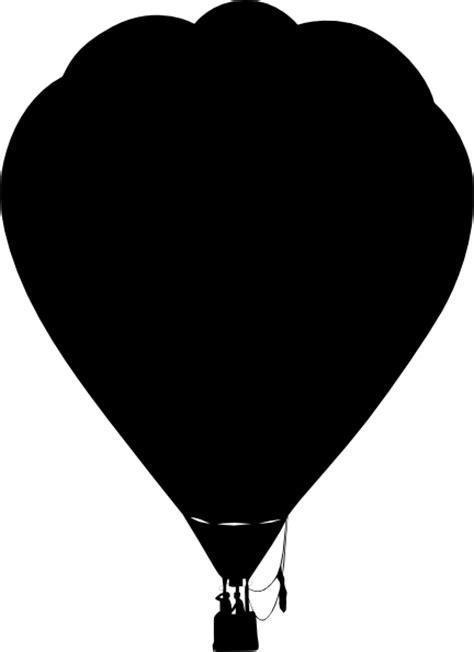 clue hot air balloon outline silhouette clip art  clker