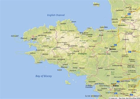 Frankreich Bretagne Karte