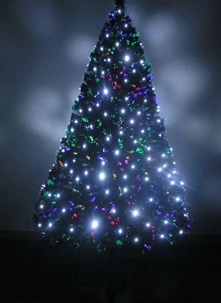 pre lit artificial christmas tree fiber optic trees