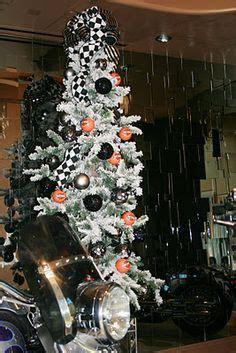 lighted harley davidson theme tree harley christmas