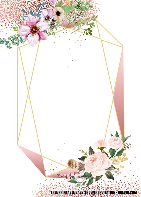 Download Now FREE Blush Floral Rose Gold Geometry