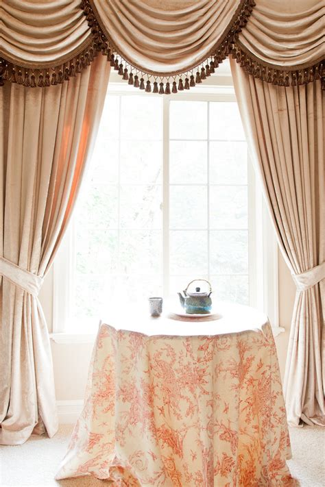 Valance Drapes Curtains by Picture Of Pearl Dahlia Classic Overlapping Style