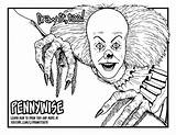 Pennywise Coloring Clown Drawing 1990 Draw Mini Tv Pages Series Too Getdrawings Tutorial Colorings sketch template
