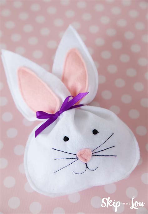 felt bunny treat bag skip   lou