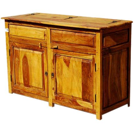 dallas ranch rustic solid wood  door kitchen storage cabinet