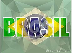 Brasil Letters With Brazilian Flag Stock Vector Image