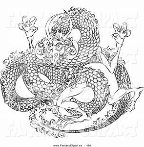 Image Gallery oriental dragon outline