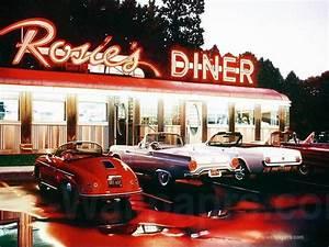 American Diner Wallpaper : american diner wallpaper wallpapersafari ~ Orissabook.com Haus und Dekorationen