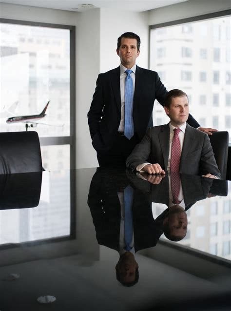trump donald jr eric tower father sons without times york manhattan boardroom thursday left site navigating forge expanding conflicts ahead