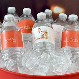 Custom printed photo water bottle labels for Custom printed bottle labels