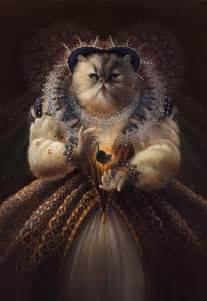 history of cats historical figures playfully portrayed as cats and dogs