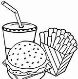 Hamburger Kentang sketch template