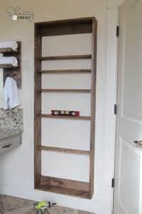 Wood Medicine Cabinets With Mirrors by Diy Bathroom Mirror Storage Case Shanty 2 Chic