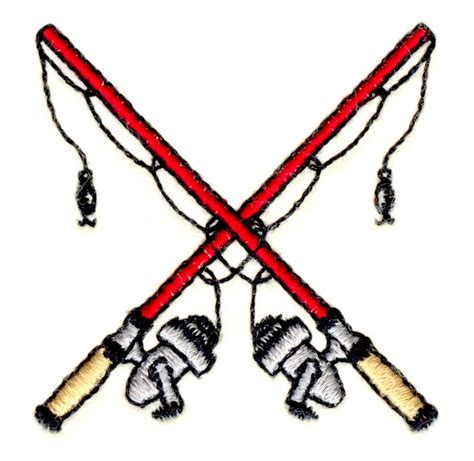 stitchitize embroidery design crossed fishing poles
