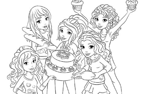 lego friends coloring pages coloring home