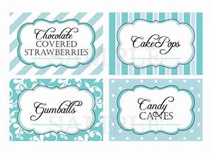 printable candy buffet labels for wedding or shower With buffet food labels templates