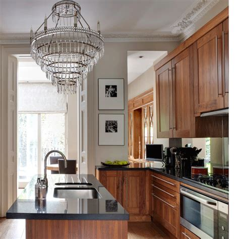 traditional kitchen with chandelier traditional kitchen