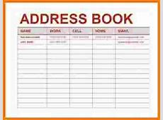Excel address book template Authorization Letter Pdf