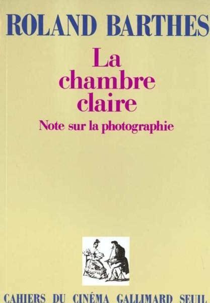 livre la chambre notes sur la photographie