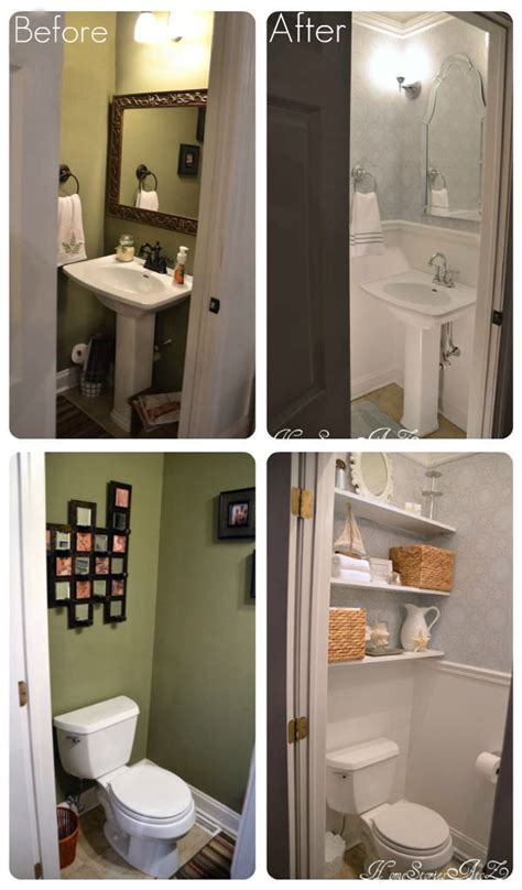 How To Makeover A Small Bathroom Tiny Bath Makeovers Decorating Your Small Space