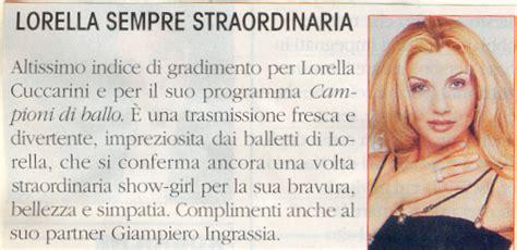 lettere ai giornali lorella cuccarini fan page lettere ai giornali