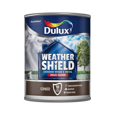 Dulux Weathershield Conker  Exterior Gloss Paint 750ml