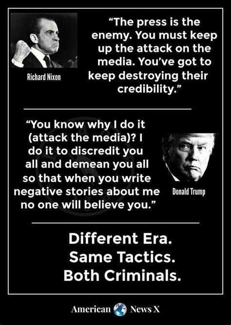 trump nixon quotes memes destroy attack keep credibility did journalists they enemy must press say president got ve quote snopes