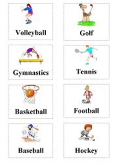 Sports Flashcard  Esl Worksheet By Yesimmm