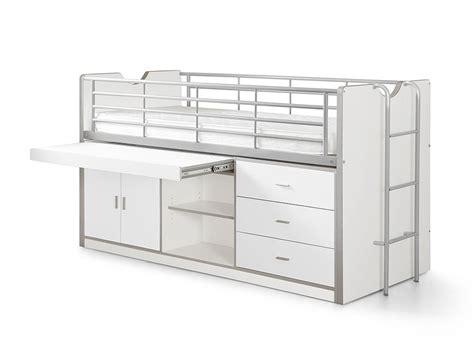 lit mezzanine combin bureau lit combiné avec grand bureau et rangements sommier