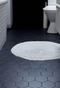 grey hexagon floor tile inspired living