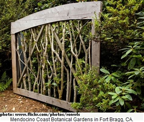 wooden garden gate idea using large branches