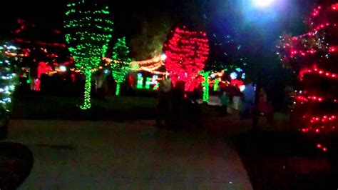 christmas lights at largo central park in largo florida
