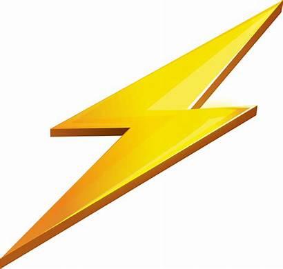 Lightning Transparent Bolt Clipart Zap Clip Icon