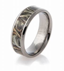 realtree max 4 camo wedding ring by titanium buzz With max 4 camo wedding rings