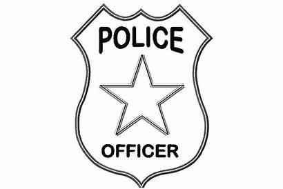 Police Coloring Pages Badge Officer Badges Clipart