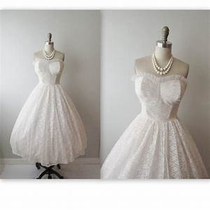 50s wedding dress vintage 1950s strapless by With vintage 50s wedding dresses