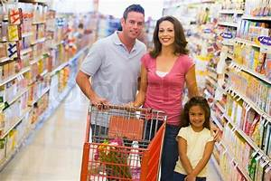 Family shopping for groceries in supermarket | Stock Photo ...