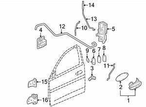 Pontiac Grand Prix Door Hinge  Upper  Right  Rear