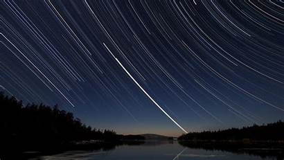 Stars Star Exposure Trails Forest Lakes Wallpapers