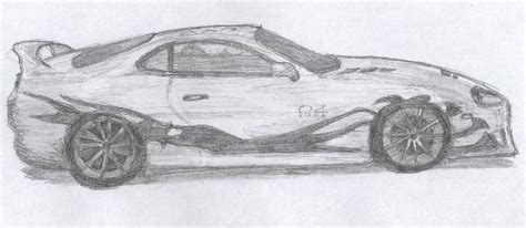Toyota Supra Sketch By J-a-z-z-z On Deviantart