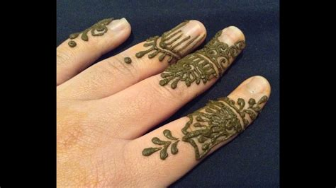Quick And Easy Henna Designs For Fingers