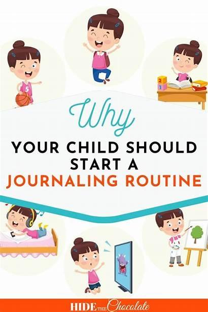 Routine Homeschool Writing Journaling Hidethechocolate Child Start
